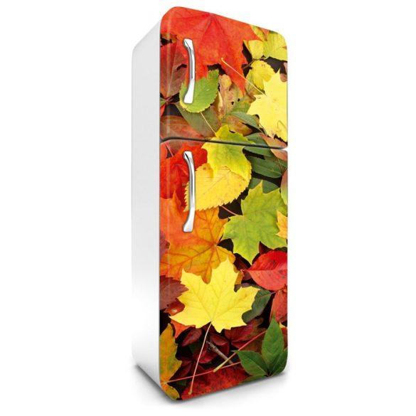 Színes levelek, hűtőszekrény matrica, 180 cm