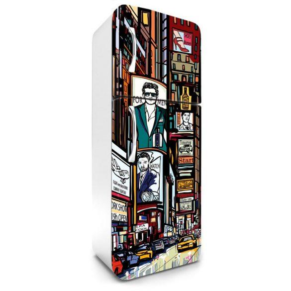 Képregény, hűtőszekrény matrica, 180 cm