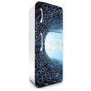 Bináris folyósó, hűtőszekrény matrica, 180 cm
