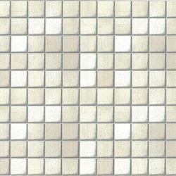 Fehér mozaik - ezüst fuga mintás 3D öntapadós tapéta a Dekormatricák Webáruházban