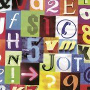 Színes betű mintás öntapadós tapéta