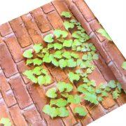 Téglafal növénnyel, 3D öntapadós tapéta a Dekormatricák Webáruházban