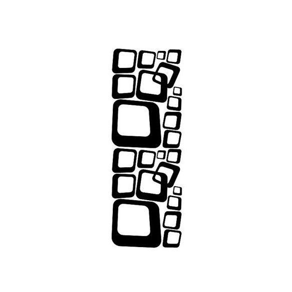 Retro négyzetek, falmatrica
