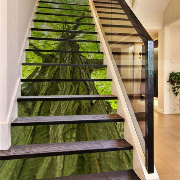 Nagy fa, 3D lépcsőmatrica a Dekormatricák Webáruházban
