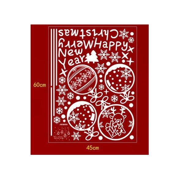 Karácsonyi üveggömbök, dekorációs matrica ablakra vagy kirakatra - Dekormatricák Webáruház