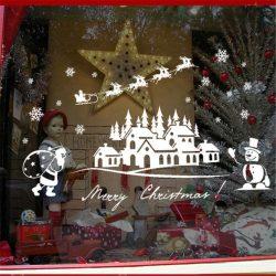 Karácsony éjjele, ablakmatrica Karácsonyra a Dekormatricák webáruház dekorációs termékei közül