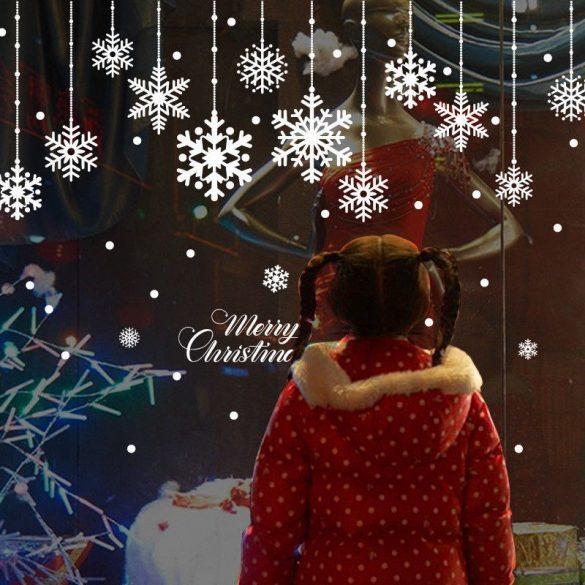 Hópelyhek, karácsonyi matrica kirakatra vagy ablakra a Dekormatricák webáruhánál