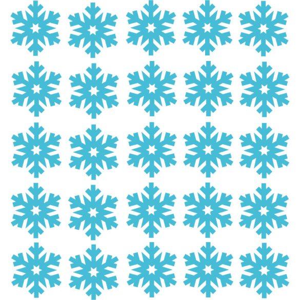 Vonatozó Mikulás, karácsonyi dekorációs matrica ablakra vagy kirakatra - Dekormatricák Webáruház