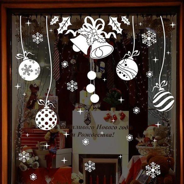 Táncoló díszek, karácsonyi dekorációs matrica ablakra vagy kirakatra - Dekormatricák Webáruház