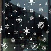 Fehér hópelyhek, karácsonyi dekorációs matrica ablakra - Dekormatricák Webáruház