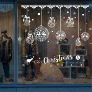 Csipkehatás, karácsonyi dekorációs matrica ablakra - Dekormatrica Webáruház
