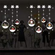 Színes karácsonyi gömbök, dekorációs matrica ablakra vagy kirakatra - Dekormatricák Webáruház