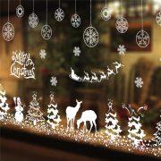 Karácsonyi tájkép, karácsonyi dekorációs matrica ablakra vagy kirakatra - Dekormatricák Webáruház