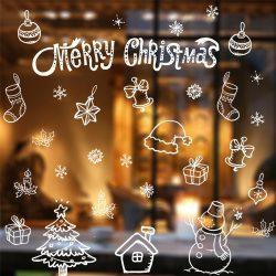 Karácsonyi dekorációs matrica ablakra vagy kirakatra - Dekormatricák Webáruház
