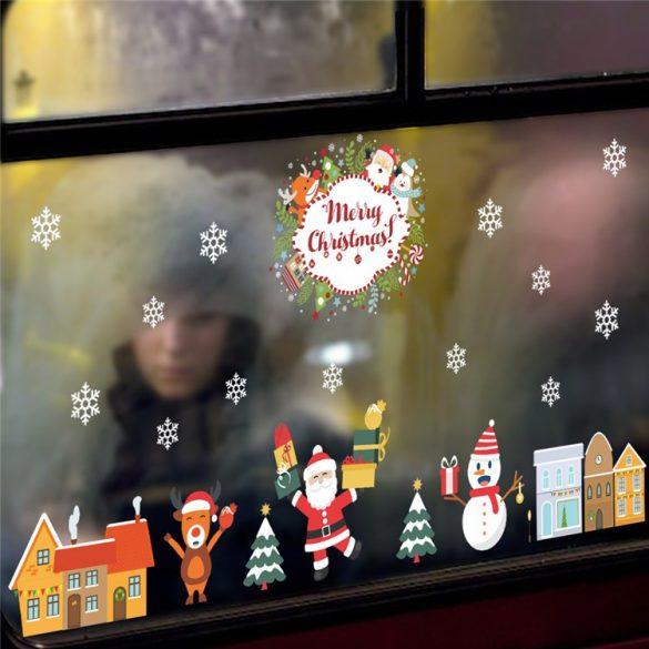 Örvendező Mikulás, dekorációs matrica ablakra vagy kirakatra - Dekormatricák Webáruház