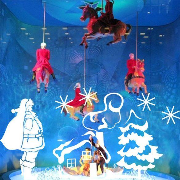 Érkező Mikulás, karácsonyi dekorációs matrica a Dekormatricák Webáruházban