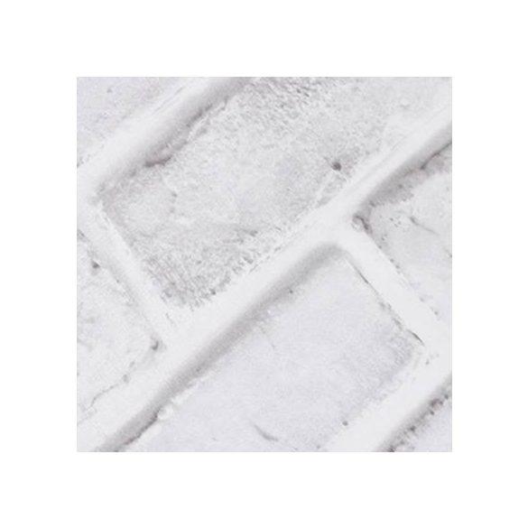 Fehér téglaminta, öntapadós tapéta