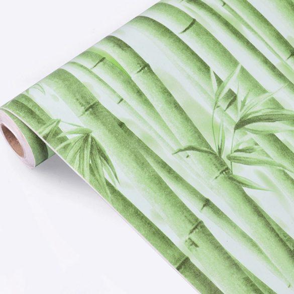 Zöld bambusz öntapadós tapéta