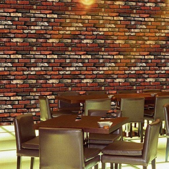 Vörös téglamintás öntapadós tapéta a Dekormatricák Matrica Webáruházban
