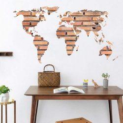 Térkép téglamintával, falmatrica a Dekormatricák webáruházban