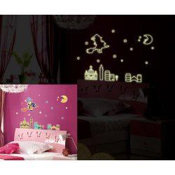 Boszi, éjjel világító falmatrica
