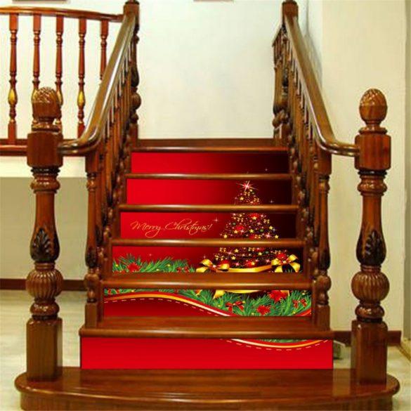 Karácsonyi lépcsőmatrica a Dekormatricák Webáruházban