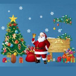 Hóemberek, karácsonyi dekorációs matrica ablakra vagy kirakatra - Dekormatricák Webáruház