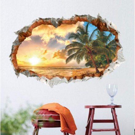 Izzó naplemente, faltörő falmatrica