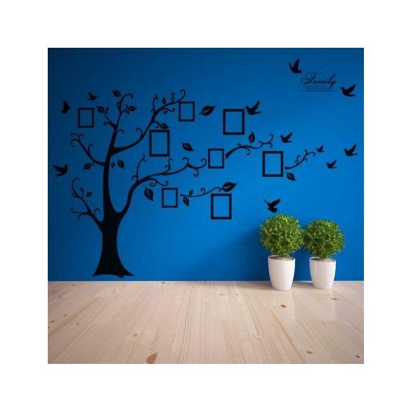 Fekete óriás családfa falmatrica a Dekormatricák webáruházban