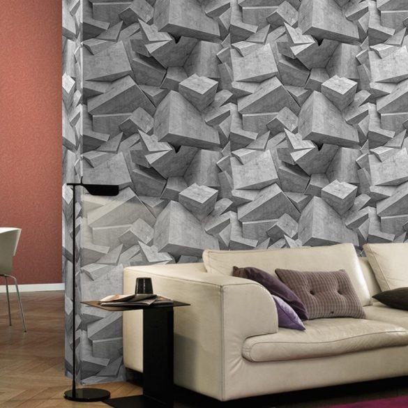 Modern szürke geometrikus mintás öntapadós tapéta