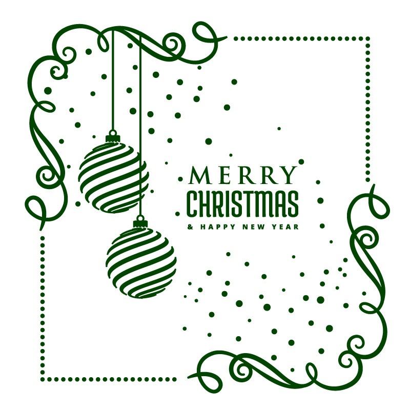 Karácsonyi sarokminta, kirakatmatrica