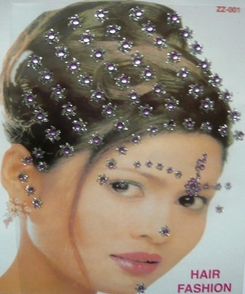 Strasszos hajmatrica, lila