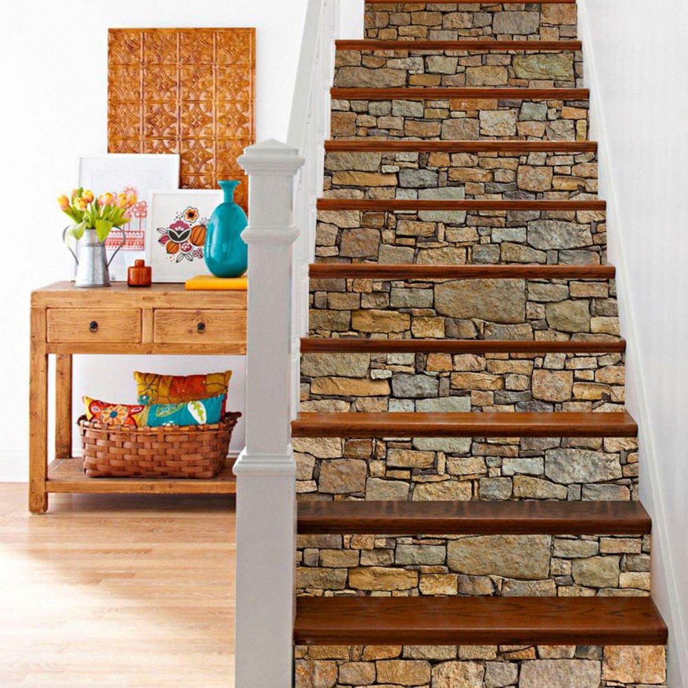 Kő mintás lépcsőmatrica