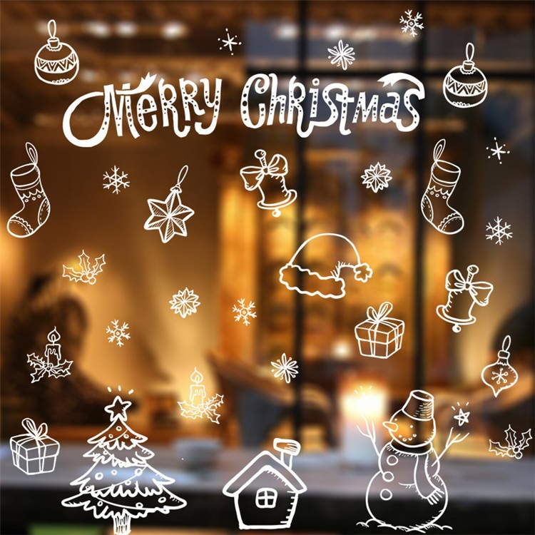 Karácsonyi dekorációs matrica ablakra vagy kirakatra